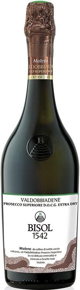 Игристое вино Bisol, «Molera» Valdobbiadene Prosecco Superiore DOCG Extra Dry
